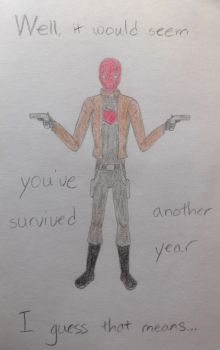 Red Hood (Birthday Card Cover) by RascalJoy