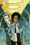 Bill and the Doctor for TinyNerdGirl by SmudgeThistle