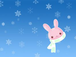 BunnyHead Wallpaper by limon-butterfly