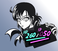 Shanari Aston - Persona 5 HUD-style by G-Brothers
