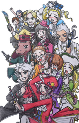 [ClassicaLoid] Meet the Composers (colored) by BlackHayate02