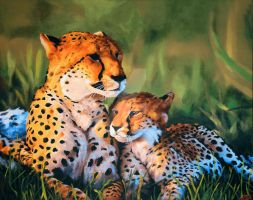 Mother and Cub by WarriorWhite