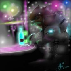 Krogan at the bar by AMYisC0P1C