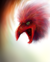 Bird - iPhone painting by tearsinraine