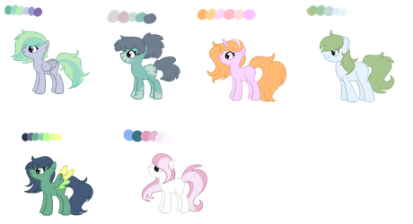 [Adopts] MLP Palette Adopts OPEN PRICE REDUCED by DualJewels