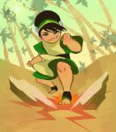 Earthbender Toph by TwiggyMcBones