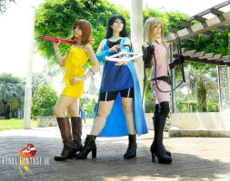 Selphie Rinoa and Quistis Final fantasy VIII by LilituhCosplay