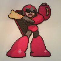 Protoman - Perler by Crausse