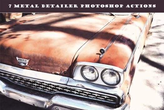 7 Free Metal Detailer Photoshop Actions by creativewhoa