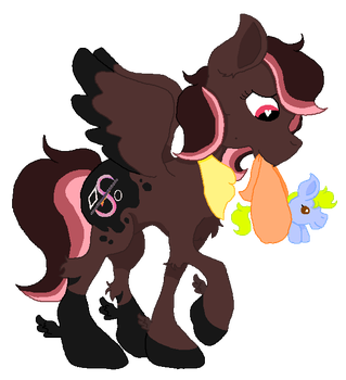 Painted Crescent's New Bundle of Joy by SummerSketch-MLP