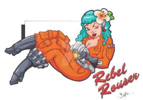 Rebel Rouser fighter pinup by KPhillips702