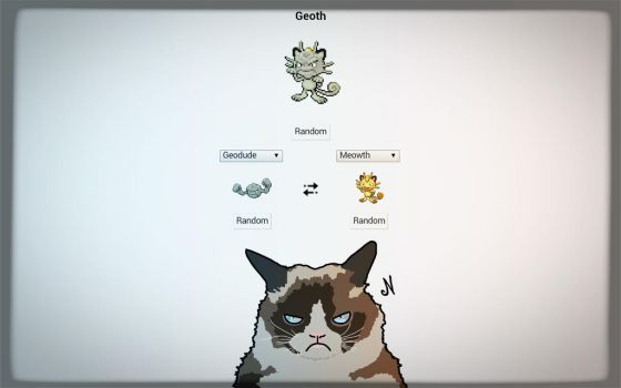 Geodude X Meowth by NickBF5