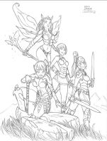 Josara and the Black Dragons by Alexi-C
