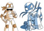 Orange and Blue - TMNT by TheEmster97