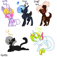+ Exotic Ponyes Adopts - Closed 0/6 - 7 Points + by TheChoccoBear