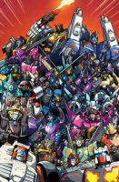 Transformers Lost Light issue 18 cover B by markerguru