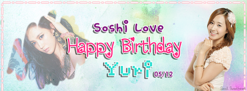 HAPPY BIRTHDAY YURI TIMELINE COVER! by SeoulSweetheart