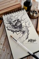 Inktober day 1 :) by Dibujante-nocturno