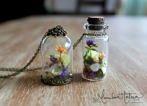 Crystal Garden Necklaces (with DIY video) by MeandrousArt