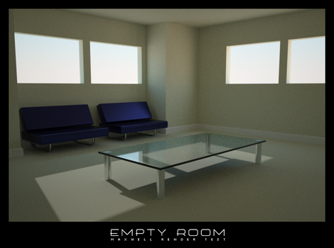 Empty Room - maxwell render by md1024