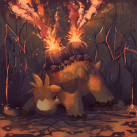 Camerupt used Lava Plume by salanchu