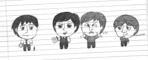 Chibi Beatles by girlwitharubbersoul