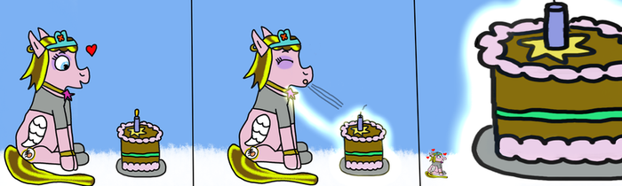 Blessed Wing's Birthday Magic by MyMelodyOfTheHeart