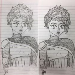 Captain Phasma Cosplay Doodle by j0wey