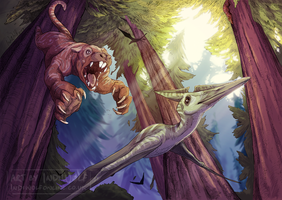 The Redwoods by IndiWolfOnline