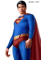 BRANDON ROUTH AS SUPERMAN by supersebas