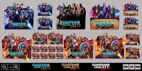 Guardians of the Galaxy Vol. 2 (2017) Icon Pack by Bl4CKSL4YER