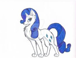 Rarity Wolf by Silent-Shadow-Wolf