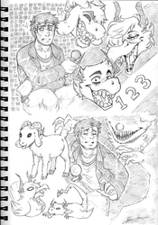 123 Slaughter Me Street sketches by BlasticHeart