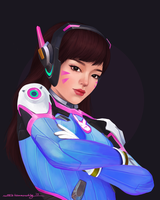 Overwatch: D.VA by ruthiebutt