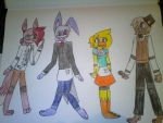 Fnaf redrawn, the old and forgotten by Illiterate-Swine