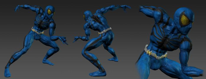 Spiderman Blue - posed by RedHeretic