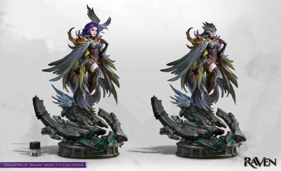Daughter of Trigon Statue Concept by theDURRRRIAN