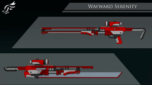'Wayward Serenity' - RWBY OC Weapon (Commission) by DenalCC1010