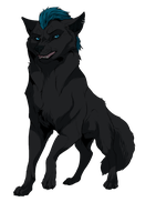 Commission cool wolf by ChershireHatter