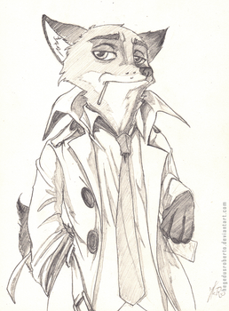 Commission - Nick Wilde by RobertFiddler