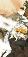 Okami : The Wolf and the Wind by Sakiimi