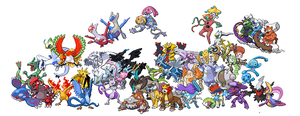 All Legendary Pokemon by ZomZoomg