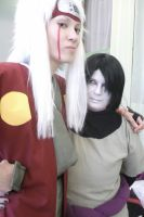 Jiraya and Orochimaru by Melecefy