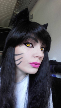 Ahri - Make Up test by BlackKami