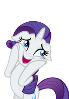 Rarity is delighted by the crystal ponies. by DrPancakees