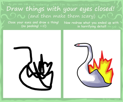 Draw With Your Eyes Closed Meme by Espio143