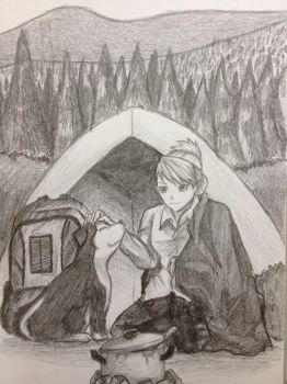 The Camper and her Companion by nappyboy67