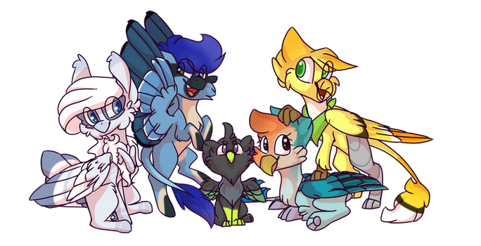 [C] Catbirb Crew by Owl-Feather27