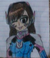 A Smol Nerf (D.Va Chibi) by The-Russian-Loli