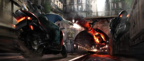 Motorcycle Takedown by atomhawk